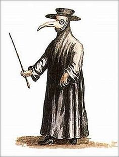 """Those tending to victims of the black plague wore masks filled with aromatic spices or herbs to """"protect"""" themselves from the disease."""