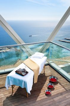 Spa treatment over the Mediterranean at The Spa by Six Senses Spas at Hotel Arts Barcelona