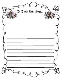 Blank Lined Writing Paper Kindergarten