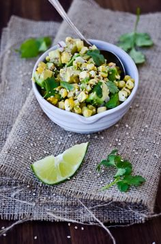 corn and avocado salsa... yum!