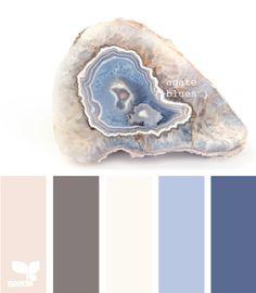"""""""Agate Blues"""" color palette."""