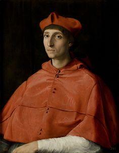 Autor: Raffaelo Sanzio Título: Retrato de cardenal Cronología: 1510 Técnica: Óleo sobre tabla Medidas: 79 cm x 61 cm Escuela: Renacimiento Tema: Retrato