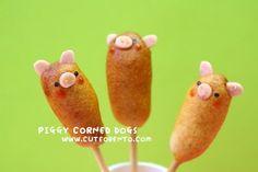 Piggy corn dogs