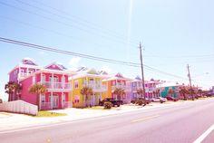 beach homes, dream, orlando florida, colorful houses, beach houses
