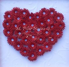 Red Quilled Heart - by: Pilar Nunhez - Chili