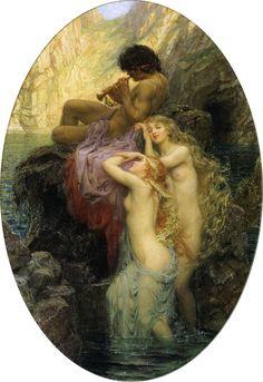 Melodías del mar - Herbert James Draper