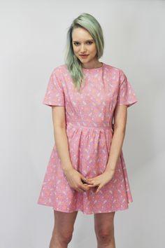 Hanna Pink Malibu Skater Dress