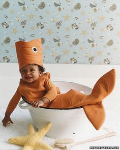 Goldfish Halloween costume for baby.