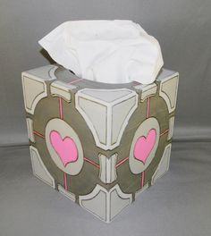 Companion Cube Tissue Box Cover