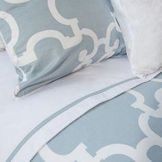 Great site for designer bedding   The Noe Blue Duvet Cover   Crane and Canopy