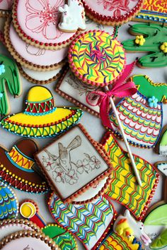 beadwork, icing dots, Julia M Usher, decorated cookies