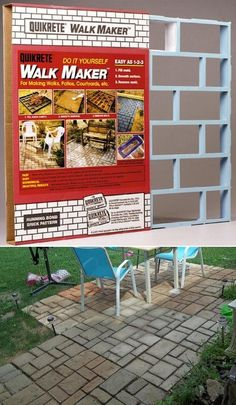 Quikrete walk maker backyard beauty pinterest for Walk maker ideas