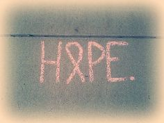 #hope #breastcancer #sidewalkchalk