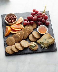 Blue Cheese-Pecan Icebox Crackers