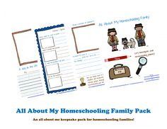 Free Printable Pack: All About My Homeschooling Family | SoYouCallYourselfaHomeschooler.com