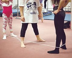 Chinese jump rope...I loved this game.