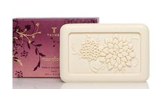 Thymes Triple Milled Soap, Moonflower, 8-Ounce Bar by Thymes. $12.00. Ultra-creamy lather with hydrating Glycerin. Moisturizes, cleanses, and hydrates the skin for an overall good feeling. Swirling notes of cinnamon and clove dance on sugared quince, while fresh myrtle leaves and mahogany are shrouded in sultry dark amber and cognac. Thymes guarantees their products are not tested on animals; use without guilt. 8 Ounce bar triple-milled soap with Moonflower fragrance, ma...