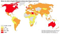 Who edits Wikipedia? A map of edits to articles about Egypt