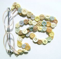Glasses Chain in Vintage Buttons by MRSButtons on Etsy - SOLD