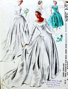 vintage wedding dresses McCalls pattern