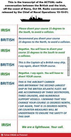 Gotta love the Irish.