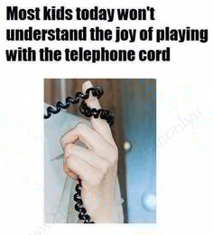The good old days phone cord, 80s memori, telephon cord, thought