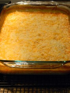 Buffalo Chicken Dip ... 2 8oz. packages of cream cheese  -1 cup Ranch dressing  -1 cup Buffalo sauce  -2 cans chicken (drained)  -1 bag of shredded cheese (I like to use the Mexican blend)