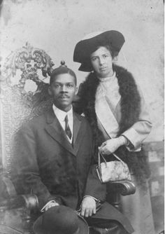 The Marriage of Louis and Louisa GregoryLouis and Louise Gregory -- the first black-white marriage in the American Baha'i community.  At the time they were married in 1912, interracial marriages were illegal in 25 states.