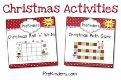 Christmas Printables at PreKinders.com