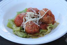 meatballs and zucchini