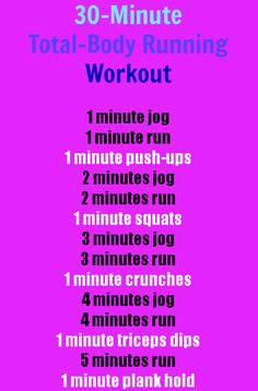A 30-Minute, Total-Body RunningWorkout! Quick-and-Easy! :) | http://Health.com http://hi5health.com/