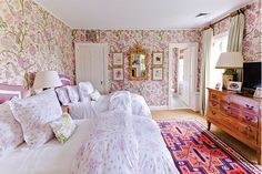 Beautiful guest bedroom - Tory Burch In Color