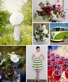 Color Board Apple And Blackberry | Wedding Ideas and Inspiration Blog
