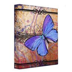 Purple Butterfly Collage Vinyl Binder $21.95