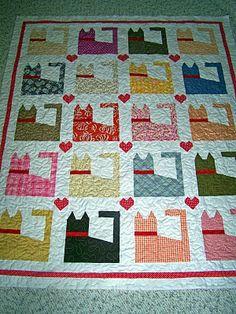kitty cat quilt <3
