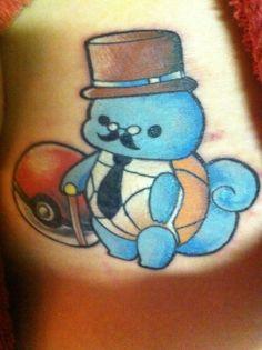 Monocle, Cane, Top Hat Fancy - Gentleman Squirtle. So cute!