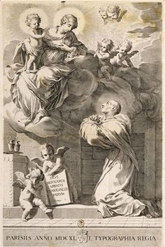 Vision of St Bernard.Claude Mellan.1650.