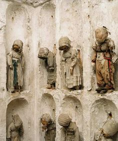 The catacombs of Palermo.