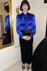 Royal Blue silk and stunning on her, transgender gorgeous woman x