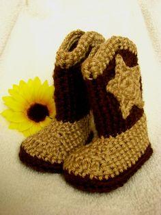 Crochet Cowboy Booties!