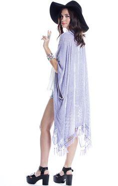 Geisha Dream Velvet Burnout Tassel Kimono - Saltwater Gypsy #saltwatergypsy
