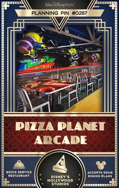 Walt Disney World Planning Pins: Pizza Planet Arcade