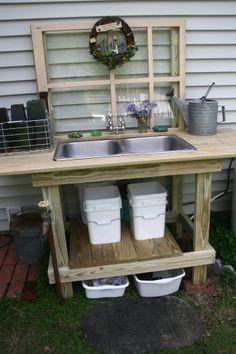 My new potting bench!