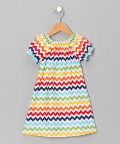 adorable rainbow chevron dress
