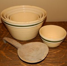 Watt Pottery Mixing Bowl Set mixing bowls, bowl set, mix bowl