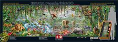 New world's largest puzzle is this one from Educa called Wild Life with 33600 pieces. I looked and it is not yet available on Amazon.com or eBay.com. The size of the assembled puzzle will be just over 224 inches by 61 inches. Is this a puzzle you would tackle? #largest #jigsawpuzzles