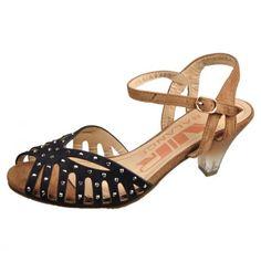 Studded Peep Toe Sandal