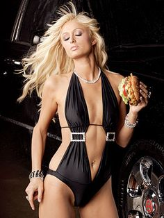 """PARIS HILTON    The iconic starlet, a big burger and a Bentley. """"That's hot."""""""