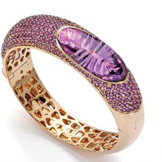 Pink gold and amethyst bracelet by Roberto Coin (Italy)