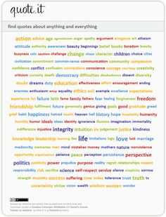 Find quotes about anything and everything.